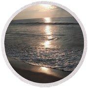 Ocean - Gentle Morning Waves Round Beach Towel