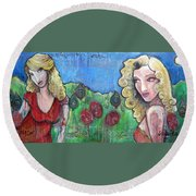 Gentlemen Prefer Blondes Round Beach Towel