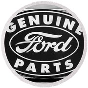 Genuine Ford Parts Sign Round Beach Towel