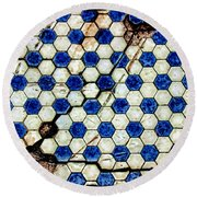 Geographic Tile Round Beach Towel