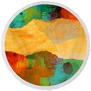 Geography Round Beach Towel