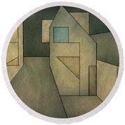 Geometric Abstraction II Round Beach Towel