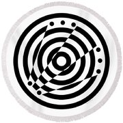 Geometric Circle 6 Round Beach Towel