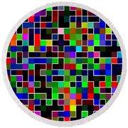 Geometric Pattern 2 Round Beach Towel