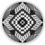 Geometric Progression Round Beach Towel