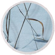 Geometry Grass Round Beach Towel