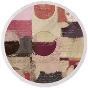 Geomix 01 - C19a2sp5ct1a Round Beach Towel by Variance Collections
