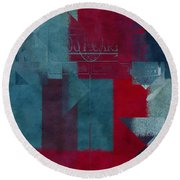 Geomix 03 - S330d05t2b2 Round Beach Towel by Variance Collections