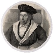 Georg Wilhelm Friedrich Hegel Round Beach Towel