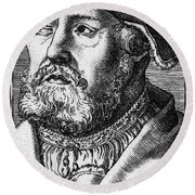 Georg Witzel (1501-1573) Round Beach Towel