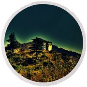 George Everest Observatory Round Beach Towel