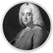 George Frederic Handel Round Beach Towel