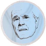 George H. W. Bush Round Beach Towel