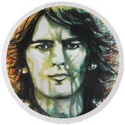 George Harrison 01 Round Beach Towel