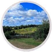 George Hill Orchard Round Beach Towel