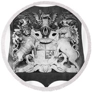 George IIi: Coat Of Arms Round Beach Towel