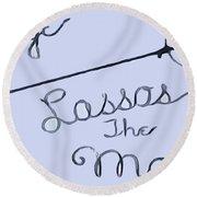 George Lassos The Moon Round Beach Towel