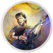 George Thorogood In Cazorla In Spain 02 Round Beach Towel