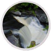 George W Childs Park Waterfall Round Beach Towel