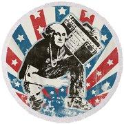 George Washington - Boombox Round Beach Towel