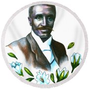 George Washington Carver Round Beach Towel