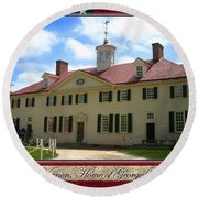 George Washington's Mount Vernon Round Beach Towel