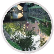 Georgetown Canal Reflections Round Beach Towel