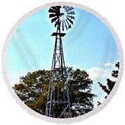 Georgia Windmill Round Beach Towel
