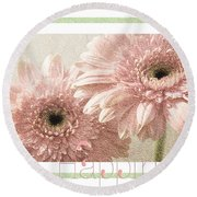 Gerber Daisy Happiness 3 Round Beach Towel