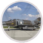 German Air Force F-4f Phantom II Round Beach Towel