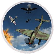 German Ju 87 Stuka Dive Bombers Round Beach Towel