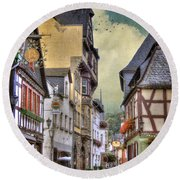 German Village Round Beach Towel