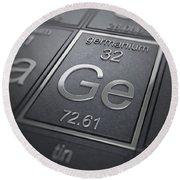 Germanium Chemical Element Round Beach Towel