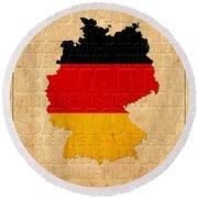 Germany Round Beach Towel