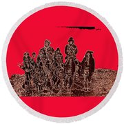 Geronimo About Time Of His Surrender #1 C.s. Fly Photographer 1887-2008 Round Beach Towel