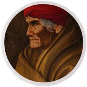 Geronimo At 77 Round Beach Towel