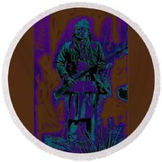 Geronimo With Rifle C.s. Fly Photo 1887-2008 Round Beach Towel