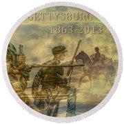 Gettysburg Anniversary 150 Years Round Beach Towel