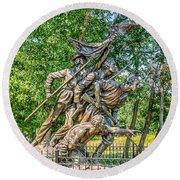 Gettysburg Battleground Memorial Round Beach Towel