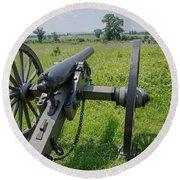 Gettysburg Cannon 2  Round Beach Towel