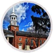 Gettysburg Lutheran Seminary Chapel Round Beach Towel