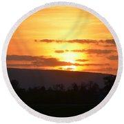 Gettysburg Sunset Round Beach Towel