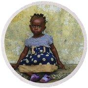 Ghanaian Child Round Beach Towel