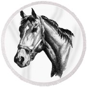 Ghazibella Thoroughbred Racehorse Filly Round Beach Towel