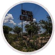 Gho Ranch Round Beach Towel