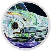 Ghost Car Round Beach Towel
