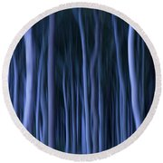 Ghost Forest Round Beach Towel