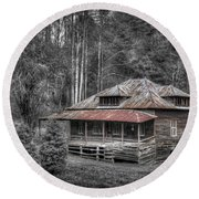 Ghost In The Window Round Beach Towel