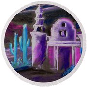 Ghost Mission Round Beach Towel