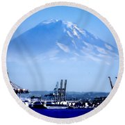 Ghost Mountain Round Beach Towel